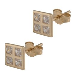 Cataleya Jewels Cataleya Jewels gouden oorbellen vierkant ERSS17013