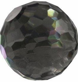 MelanO Colours Melano cateye bal zirkonia  transparant black facet