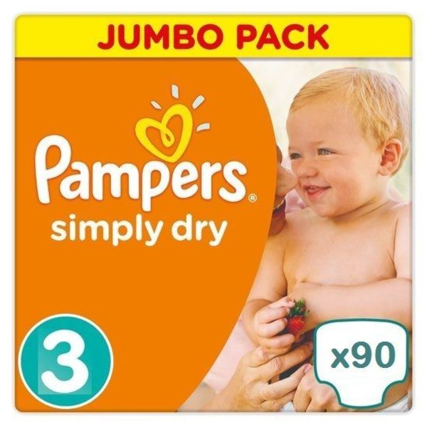 Pampers Pampers Simply Dry maat 3 - 90 luiers