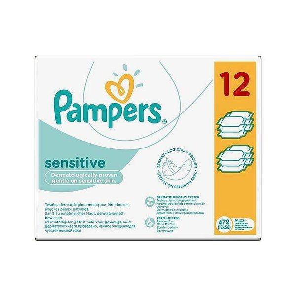 Pampers Pampers Sensitive billendoekjes 12x56