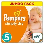 Pampers Pampers Simply Dry maat 5 - 60 luiers