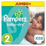 Pampers Pampers Baby Dry maat 2 - 58 luiers