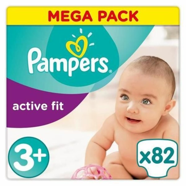 Pampers Pampers Active Fit maat 3+ - 82 luiers