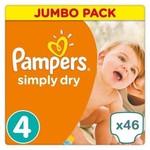 Pampers Pampers Simply Dry maat 4 - 46 luiers