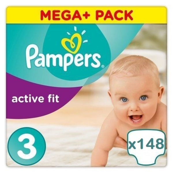 Pampers Pampers Active fit maat 3 - 148 luiers