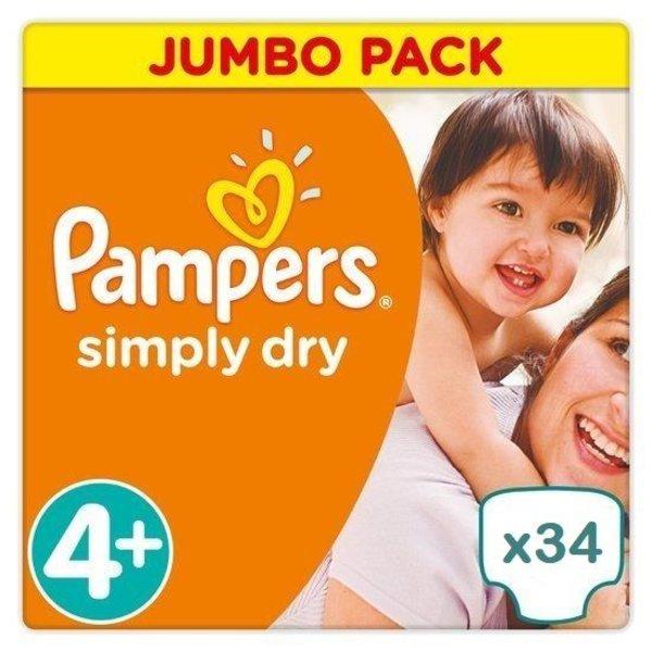 Pampers Pampers Simply Dry maat 4+ 34 luiers