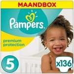 Pampers Pampers Premium Protection maat  5 Maandbox - 136 luiers
