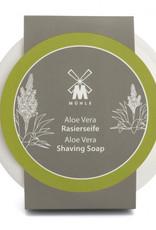 Mühle Aloe Vera parranajosaippua posliinikulhossa