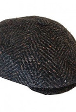 Indaco Fashion Bojua` Spigato flat cap