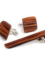 Bug Wooden Bug Wooden Rosewood kalvosinnapit ja solmioneula