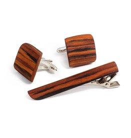 Bug Wooden Rosewood kalvosinnapit ja solmioneula