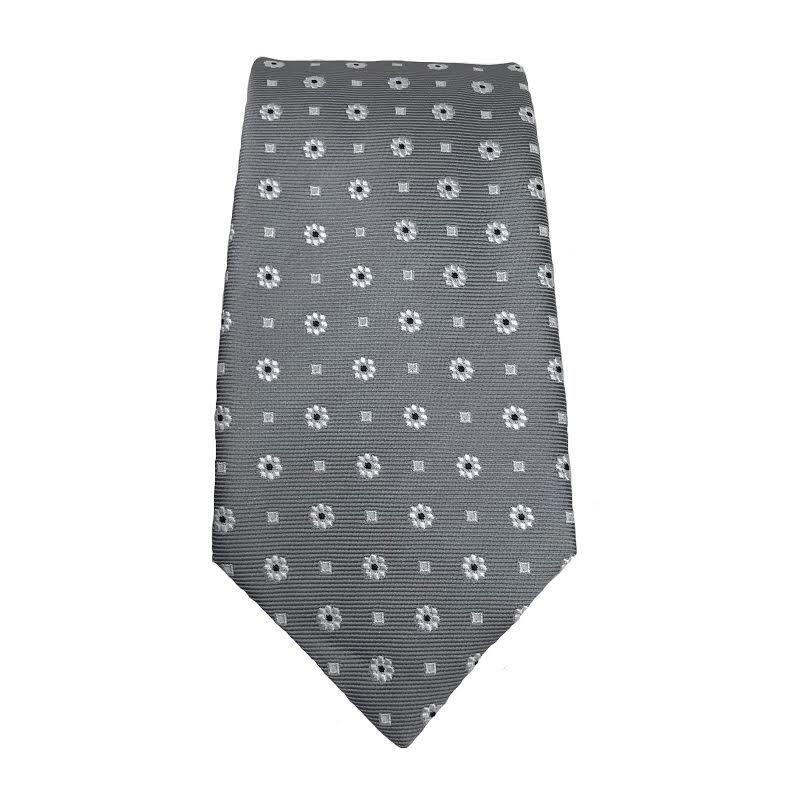 Piero Gianchi Harmaa solmio valkoisella kuviolla