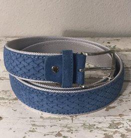 Aragona Pelleterie sininen mokkanahkavyö