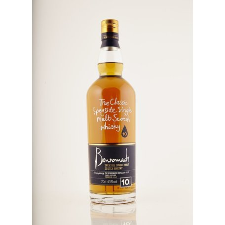 Benromach has long been a staff favourite at Milroy's. This Speyside 10 year old has a distinct nuttiness with overtones of pears, mango and cereal grain.