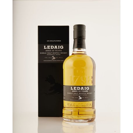 Ledaig (pronouced le-chug) is the peated expression from the Tobermory distillery. The rich malty Tobermory spirit is accentuated with the hazy smokiness.