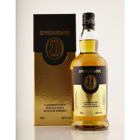 The annual release of the 21 year old Springbank is much anticpated by fans of this surprisingly delicate malt, the mouthfeel is soft with notes of fruit salad and golden syrup.