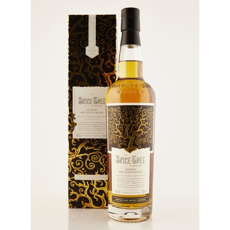 This blended malt whisky is matured predominately in ex-Bourbon casks with new oak heads - the result? A whisky rich in spicy notes like the name suggests! The first edition of this stuff was banned by the SWA.