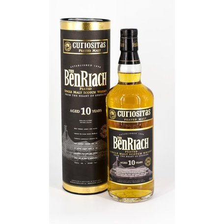 BenRiach Curiositas 10 Year Old Peated, 40%