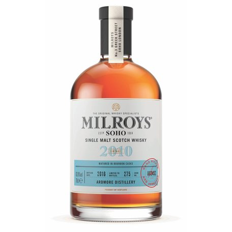 Milroys Ardmore 6 Year Old Single Malt Whisky 60.8% 2010