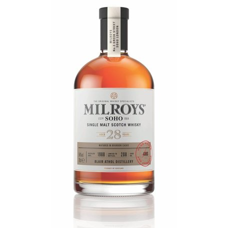 Milroys Blair Athol 28 Year Single Malt Whisky 53.6% 1988
