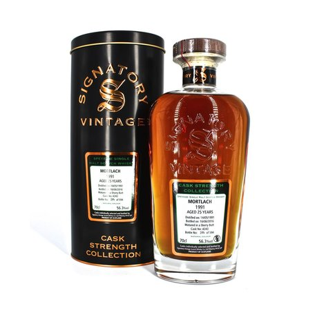 Mortlach 25 Year Old Signatory Vintage, Single Cask, Cask Strength, 1991 56.3%