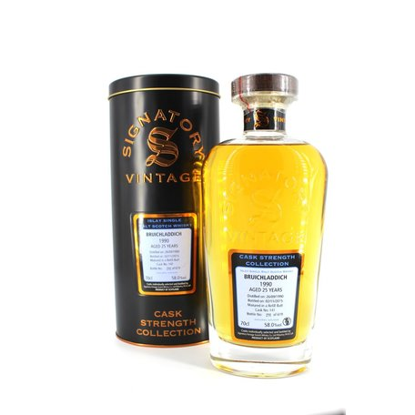 Bruichladdich 27 Year Old, Signatory Vintage, Cask Strength,1990, 55.5%