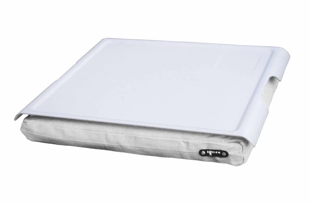 Laptray antislip wit/wit