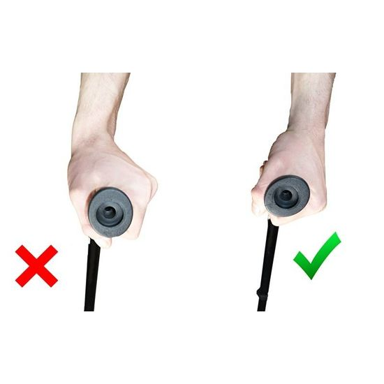 Elleboogkruk met anatomisch ergonomisch instelbare handgreep