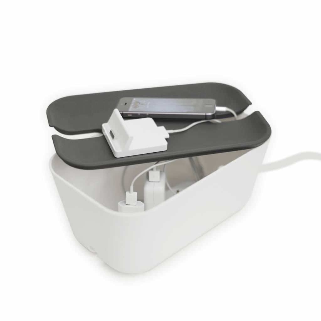 Cable organiser hideaway M white/grey