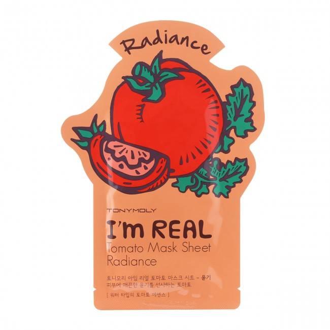 TONY MOLY I'm Real Tomato Mask Sheet Radiance (Tuchmaske mit Tomaten-Extrakt)
