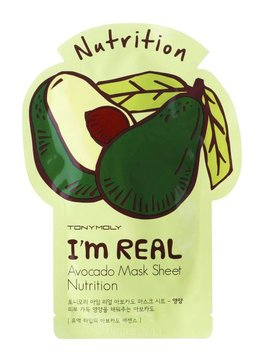 TONY MOLY I'm Real Avocado Mask Sheet Nutrition (Tuchmaske mit Avokado Extrakt)