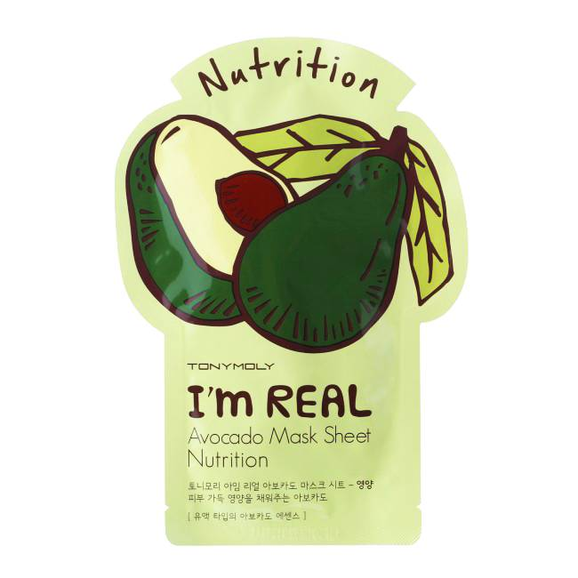 TONY MOLY I'm Real Avocado Mask Sheet Nutrition (Tuchmaske mit Avocado-Extrakt)