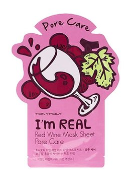 TONY MOLY I'm Real Red Wine Mask Sheet Pore Care (Tuchmaske mit Rotwein Extrakt)