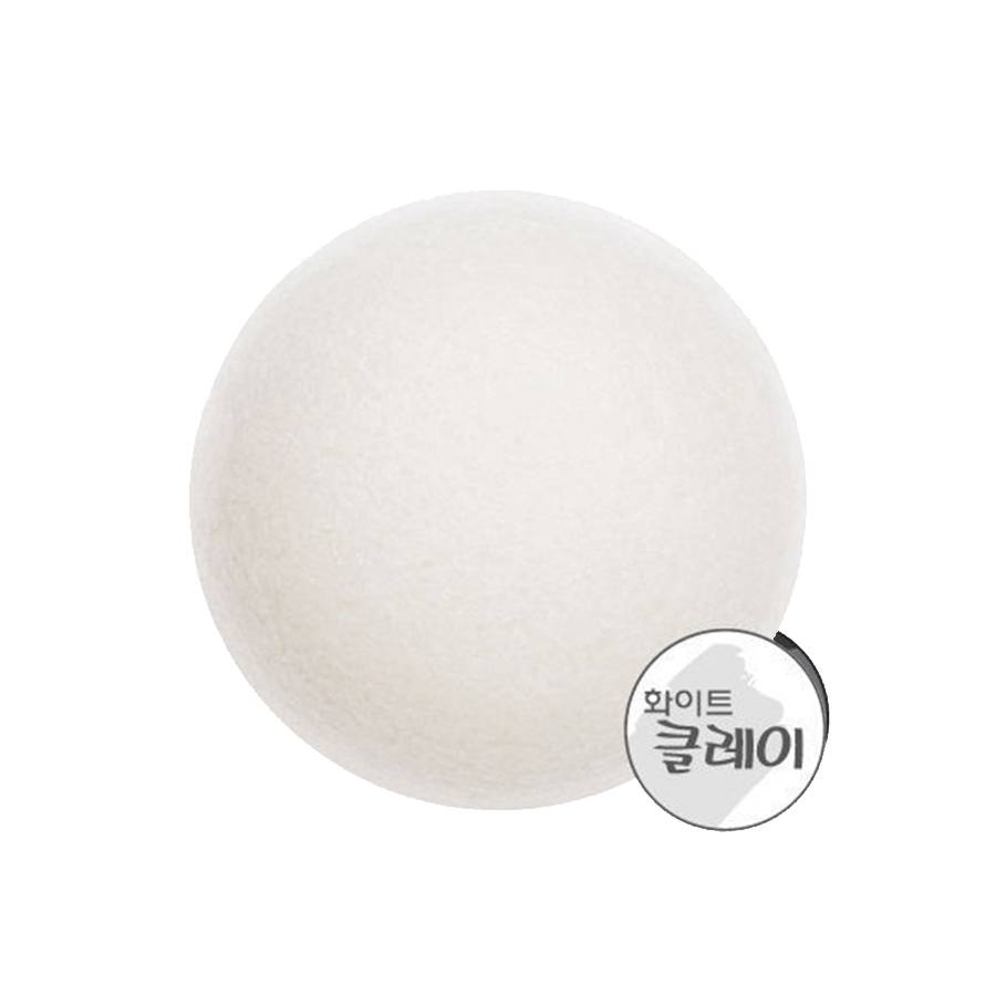 MISSHA Reinigungsschwamm - mit weissem Lehm (Natural Konjac Cleansing Puff - White Clay)