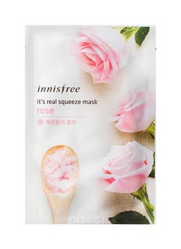 innisfree It's real squeeze mask rose (Tuchmaske mit Rosenextrakt)