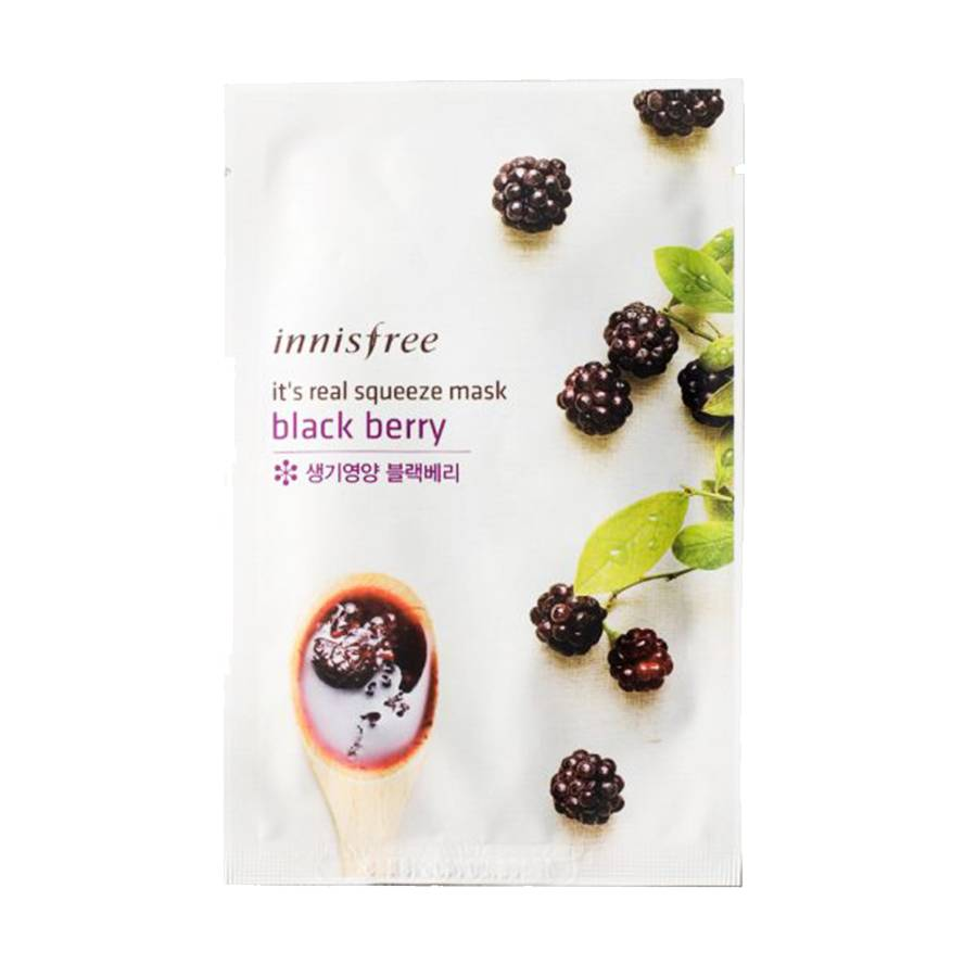 innisfree It's real squeeze mask black berry (Tuchmaske mit Brombeer Extrakt)