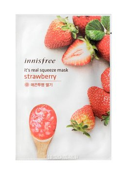 innisfree It's real squeeze mask strawberry (Tuchmaske mit Erdbeeren Extrakt)