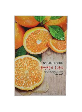 Nature Republic Real Natur Mask Sheet Orange (Tuchmaske mit Orangenextrakt)