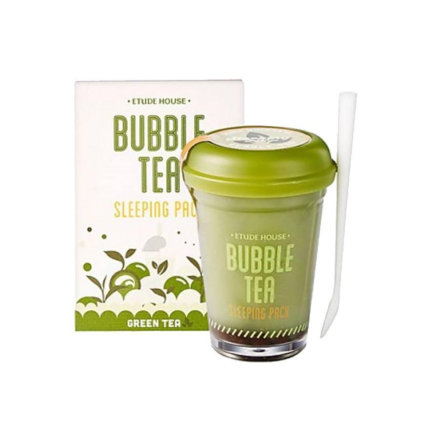 Etude House Bubble Tea Sleeping Pack 100g (Green Tea / Grüntee)