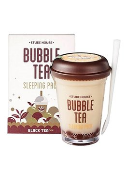 Etude House Bubble Tea Sleeping Pack 100g (Black Tea / Schwarztee)