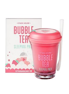Etude House Bubble Tea Sleeping Pack 100g (Strawberry /Erdbeere)