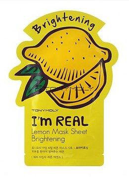 TONY MOLY I'm Real Lemon Mask Sheet Brightening (Tuchmaske mit Zitrone Extrakten)