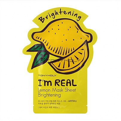 TONY MOLY I'm Real Lemon Mask Sheet Brightening (Tuchmaske mit Zitronen-Extrakt)