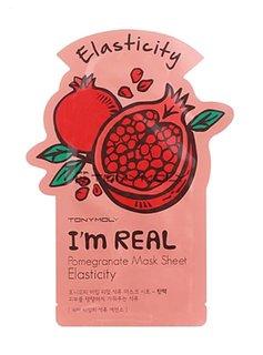 TONY MOLY I'm Real Pomegranate Mask Sheet Elasticity (Tuchmaske mit Granatapfel Extrakten)