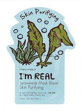 TONY MOLY I'm Real Seaweeds Mask Sheet Skin Purifying (Tuchmaske mit Algen-Extrakt)