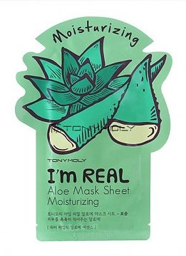 TONY MOLY I'm Real Aloe Mask Sheet Moisturizing (Tuchmaske mit Aloe-Extrakt)
