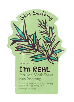 TONY MOLY I'm Real Tea Tree Mask Sheet Skin Soothing (Tuchmaske mit Teebaum Extrakten)
