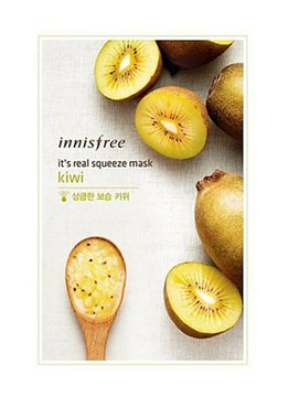 innisfree It's real squeeze mask kiwi (Tuchmaske mit Kiwi Extrakt)