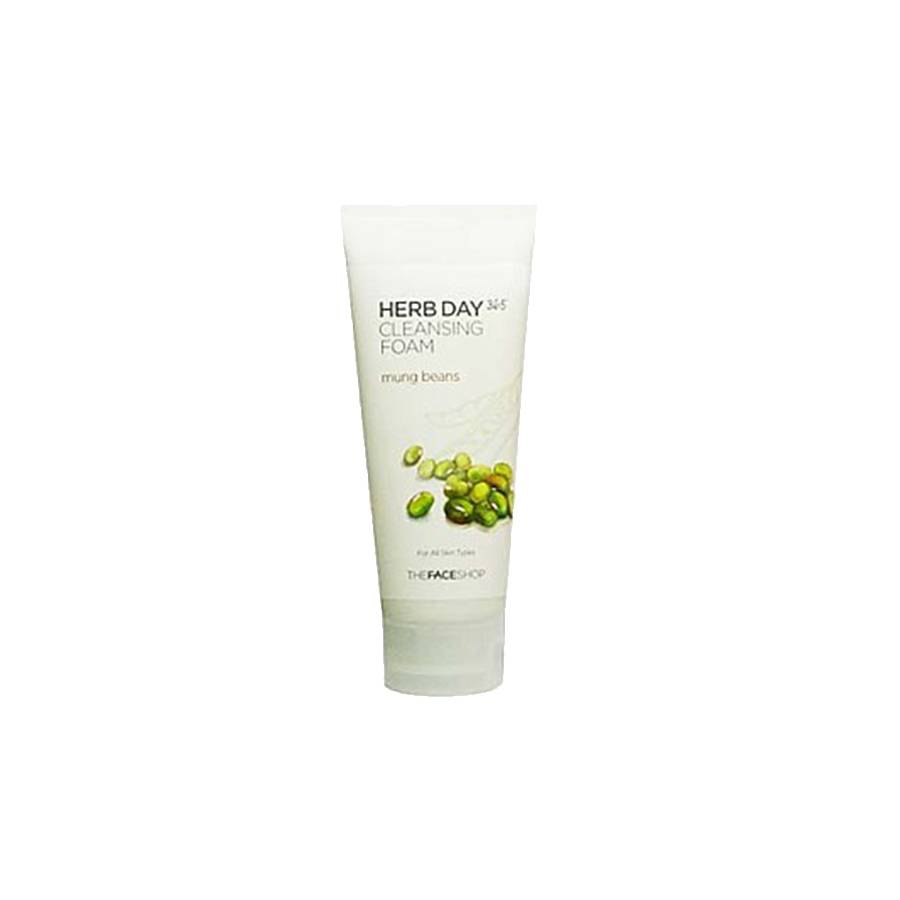 THE FACE SHOP Herb Day 365 Cleansing Foam Mung Bean (170 ml)