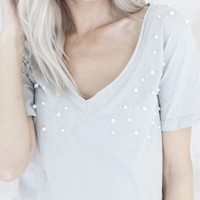 PEARLS GREY - T-SHIRT